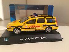 "Cararama VOLVO V70 II ""AKUTBIL Ystad"" - schwedischer Notarzt in Gelb 1/43 OVP"