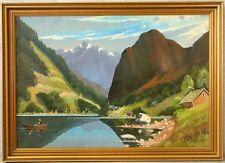» Sonnige Fjordlandschaft « monogr. AM ! 107x77 cm