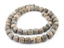 Fossilized Stegodon Stone Beads 13mm Indonesia Brown Round Large Hole