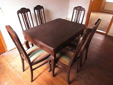 H082   Tisch  Stuhl  6 Stühle  Louis-Philippe-Chippendale Esszimmer  Handarbeit