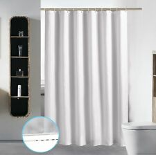 Extra Long Washable Shower Curtain Liner Bathroom Waterproof Fabric Cloth  Mildew
