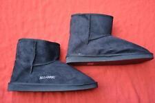 New BILLABONG Short Black Sherpa SHUGG BOOT MENS Size 8 Microsuede RRP$49.99