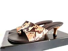 Donald J Pliner Womens Valore  SZ 6.5 ROSE PITTONE Toe Loop kitten Heel Sandals