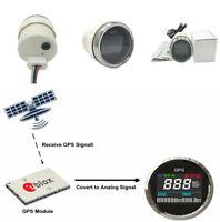 52mm KM/H Motorcycle LCD Digital GPS Speedometer Waterproof Display Gauges New