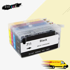 For HP711 HP 711 Designjet T120 T520 refillable ink cartridge with chips Empty