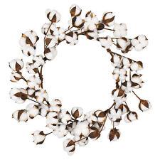 Handmade Simulation Cotton Garland Dried Flower Artificial Wreath Wall Decor
