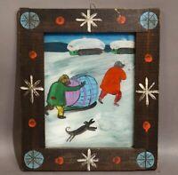 Henryk Zegadlo (1934 - 2011) - Das Brantweinfass - Naive Kunst - Hinterglas
