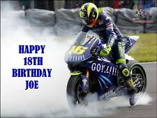 A4 VALENTINO ROSSI EDIBLE ICING BIRTHDAY CAKE TOPPER