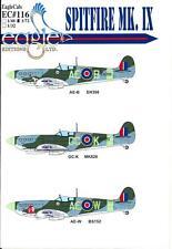 EagleCals Decals 1/72 SUPERMARINE SPITFIRE Mk.IX Fighter Part 3