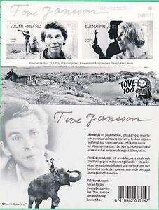 Moomin Tove Jansson 100 Year Mint Stamp Sheet MNH Finland 2014