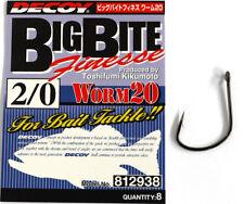 Decoy Worm 20 Big Bite Finesse Size #2/0 8pcs/pack (812938)