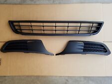 3PC Set 2011-2014 JETTA Front Bumper Lower Grille Black with LH & RH Bezel NEW