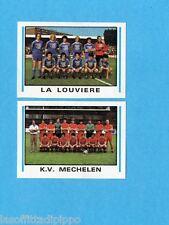 BELGIO-FOOTBALL 80-PANINI-Figurina n.371-LA LOUVIERE+KV MECHELEN-SQUADRA/TEAM-Re