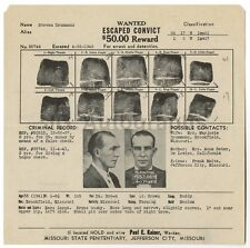 "Wanted Notice - Steven Drummond/""False Check"" - Jefferson City, Missouri 1942"