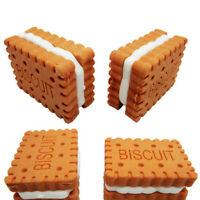 4Pcs Fashion Cute Sandwich Biscuit Rubber Pencil Eraser Sweet Stationery Gift