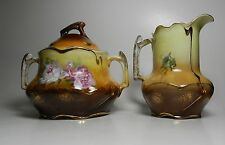 Vintage St. Killian Sugar Bowl and Creamer - Hand Painted - Made in Germany