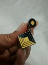 One side only vintage Margot de taxco  sterling 925 black yellow screw  earring
