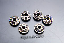 100pcs 6mm Charm Beads Luck DIY Craft Jewelry For Necklace Bracelet Silver 7036