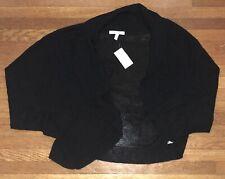 NWT XL Maurice's shrug 3/4 sleeve black white navy pick color