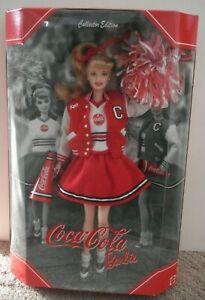 2000 Coca Cola Cheerleader Barbie Doll Collector Edition 23876 Mattel  NRFB