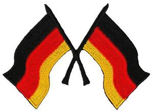 Ad31 Germany Flag Soccer Sport Sew-On Application Patch 3 11/16x2 5/8in