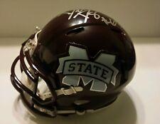 Dillon day signed Mississippi state mini helmet w/coa