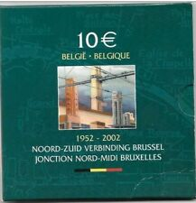 10 EURO argent 2002 JONCTION NORD-MIDI PROOF avec 8 traverses Frappe ????