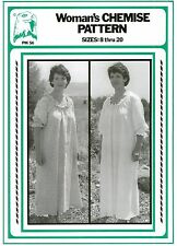 Woman's Chemise Undergarment Nightgown Dress sz 8-20 Eagle's View Sewing Pattern