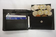 High Quality Luxury Mens Soft Leather Wallet With Back Zip Coin Pocket Top BRAND