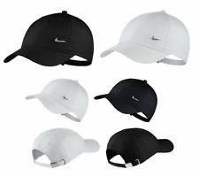 Junior Nike Metal Logo Cap Boys Girls Kids Baseball Heritage 86 Hat White New