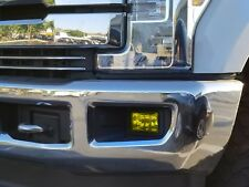 15-19 F150 Yellow Fog light Overlays TINT Kit Film wrap jdm euro