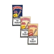 Backwoods  8 Packungen mit je 5 Zigarren  - Authentic/Caribe/Blue geflavourten