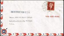 2846 SURINAM SURINAME TO US AIR MAIL COVER -KLM- 1948 PARAMARIBO - PORT HURON
