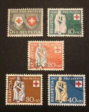 Schweiz Pro Patria 1957 Mi-Nr. 641/45 gestempelt