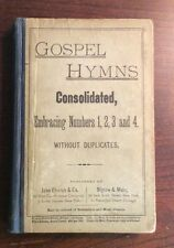 Gospel Hymns Consolidated Embracing Numbers (1883, Hardcover) SheetNoteMusic.com