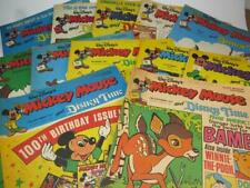 VINTAGE MICKEY MOUSE and DISNEY TIME COMICS 12 Issues July - Sept 1977 VGC