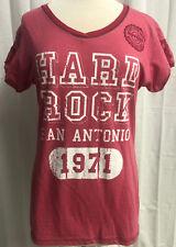 Hard Rock Cafe San Antonio Juniors Fit Girls Pink Lets Play T-shirt Top Size XL
