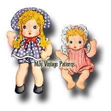 """Vintage Chubby Cheek Pattern ~ 16"""" Big Sister & 11"""" Baby Chubby-Cheek"""