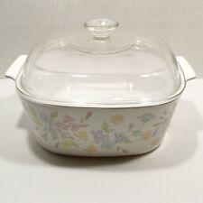 New listing Vintage Corning Ware Pastel Bouquet A-5-B 5 Liter Casserole Dutch Oven w/ Lid