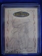 Lord of the Rings Topps Gimli Sketch Trading Card Randy Martinez Evolution