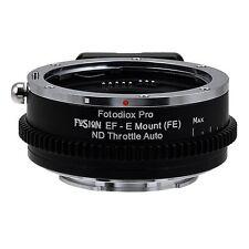 Fotodiox Objektivadapter FUSION ND Auto Canon EOS Linse für Sony E-Mount Kamera