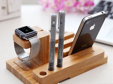 Mobile Stand Holder Phone Universal Charger Wooden Apple Iphone Apple I Watch