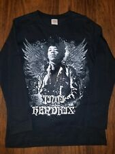 Jimi Hendrix Rock and Roll Black Stedman Ling Sleeve T-shirt Band Smal