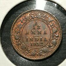 1932 BRITISH INDIA 1/12 ANNAS HIGH GRADE  COIN