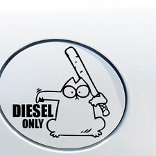 SIMONS CAT DIESEL ONLY FUNNY CAR VAN LORRY JDM VINYL DECAL STICKER EURO FUEL CAP