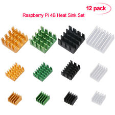12pcs Raspberry Pi 4B Heat Sink Set Aluminum Radiator Cooling Kit Cooler USA
