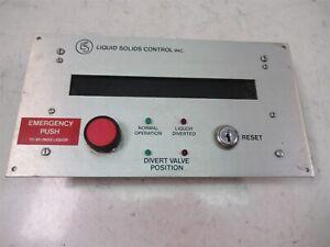 LSC Liquid Solids Control Panel Diversion Unit