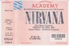 Nirvana Memorabilia Concert Memorabilia