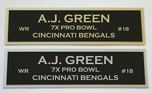 AJ Green nameplate for signed jersey football helmet or photo