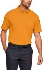 Nwt Xxl Under Armour Charged Polo Shirt Hero Orange 1321111 Pocket Golf 2Xl Cott